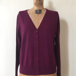 Deep Magenta purple colored  knit cardigan NWOT